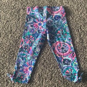 Lily Pulitzer girls cropped leggings M (6/7)
